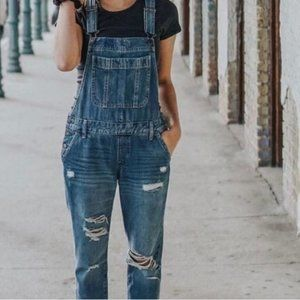 Abercrombie & Fitch Classic Destroyed Overalls M